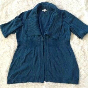 Liz Claiborne hook-and-eye sweater